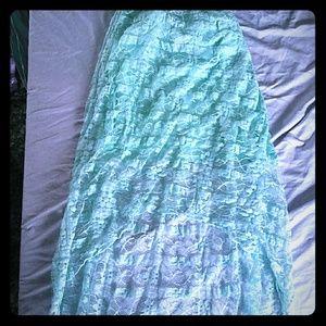 Beautiful blue lace hugh/low dress med